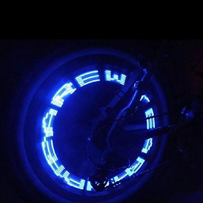 Luz LED impermeable para válvula de neumático de coche, bicicleta o moto, diseño de letras en inglés, color azul, marca HuntGold: Amazon.es: Deportes y aire libre