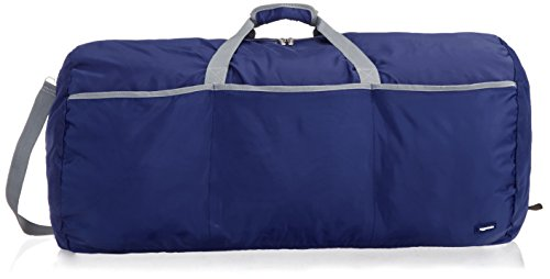 AmazonBasics Large Travel Luggage Duffel Bag - Navy Blue ()