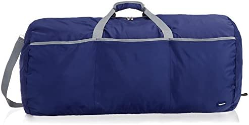 AmazonBasics Large Travel Luggage Duffel Bag – Navy Blue