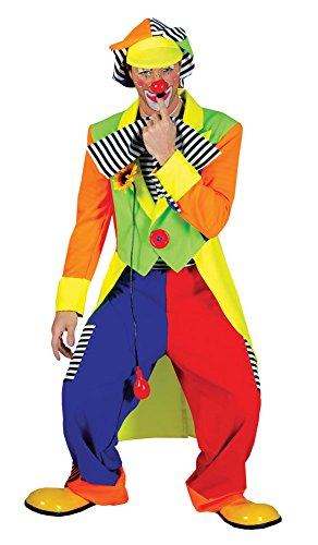 Bristol Novelty AC094A Clown Tailcoat and Trousers Costume (UK Chest Size 46 - 48-Inch) -