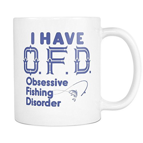 ArtsyMod Premium OFD OBSESSIVE FISHING DISORDER Coffee Mug,