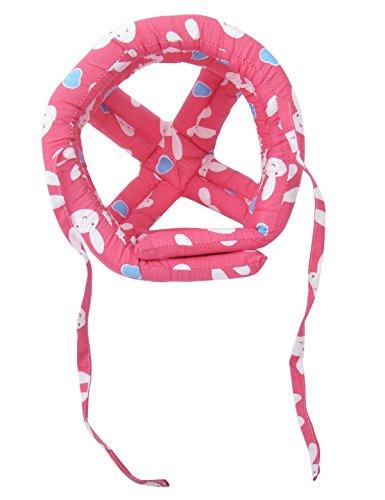 Baby Safety Helmet Adjustable Printed Head Guard Head Protector,Hot Pink Rabbit