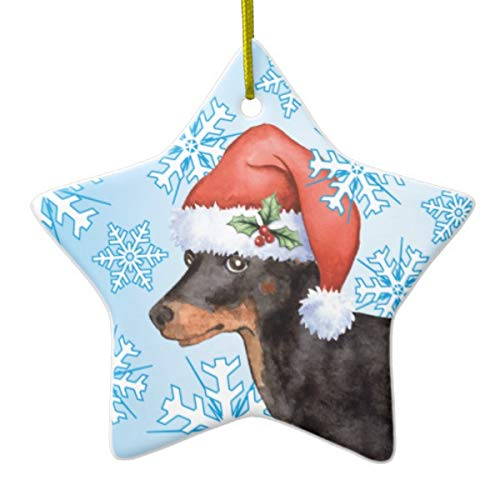 (Happy Howlidays Toy Manchester Terrier Ceramic Ornament )