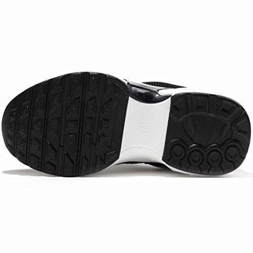 7aa2224e9a094 BODATU Kids Boys Girls Running Shoes Comfortable Fashion Light Weight Slip  on Black Size 33