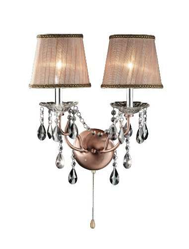 OK-5126s 17-Inch Rosie Crystal Wall Sconce Deer Antler Inspired Lamp