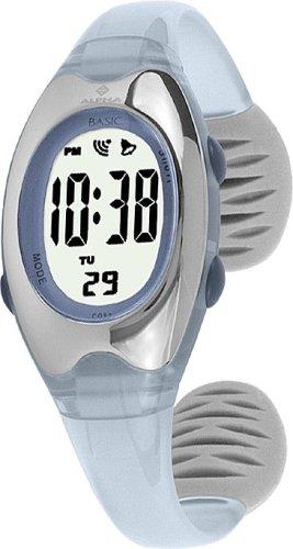 Alpha Saphir Alpha Saphir 169D - Reloj digital de mujer de cuarzo con correa de plástico azul (cronómetro) - sumergible a 50 metros: Amazon.es: Relojes