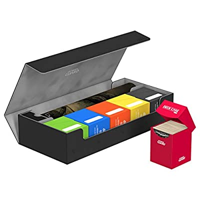Ultimate Guard UGD010867 Superhive 550 Plus XenoSkin Card Case, Black: Toys & Games