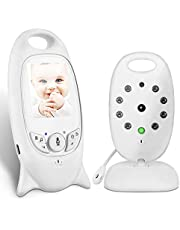 COLORWAY Babyphone mit Kamera, Wireless Baby Monitor, video babyphone, Gegensprechfunktion Digital mit Temperatursensor Schlaflieder Nachtsicht weiß