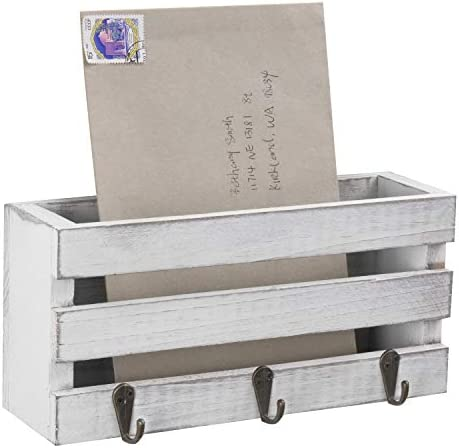 MyGift Vintage Crate Style Wall Mounted Sorter