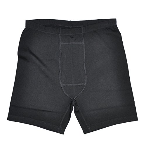 Men's 100% Merino Wool Lightweight Athletic Brief Boxers With FLY (L)