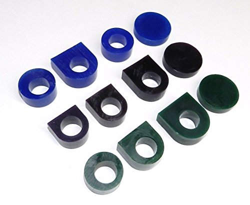 CARVING WAX RING TUBE ASSORTMENT 12 Pcs PRE-CUT TUBES & BLANKS 3 GRADES OF WAX (E 4) - Wax Cast
