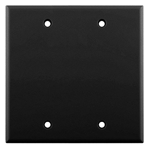 Series Wall Plate - Skywalker Signature Series Dual Gang Blank Wall Plate, Black