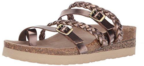 Sugar Women's SGR-Xtra Wedge Sandal, Bronze/Metallic, 6.5 M (Bronze Evening Sandals)