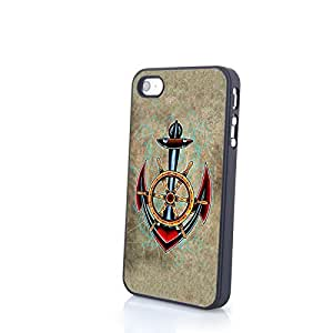 Generic Classical Dragon Anchor Cartoon Cute Colorful Matte Pattern PC Phone Cases fit for iPhone 4/4S Cases