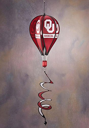 NCAA Oklahoma Sooners Hot Air Balloon Spinner Novelty 11 x 11in ()