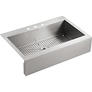 "Kohler K-3942-3 Vault 36"" Single Basin Top-Mount 18-Gauge"