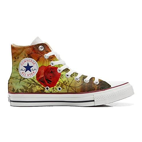 Shoes rouge Converse rose Adulte Customized produit Your Make chaussures artisanal coutume TqwZ55