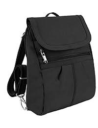 Travelon Anti-Theft Signature Slim Multipurpose Backpack, Black
