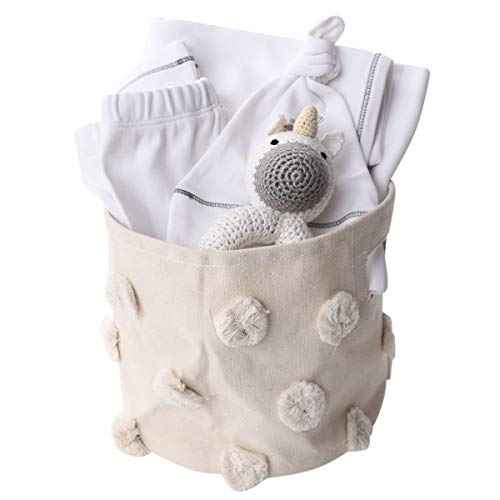 White Organic Gift Basket for Baby - Unicorn ()
