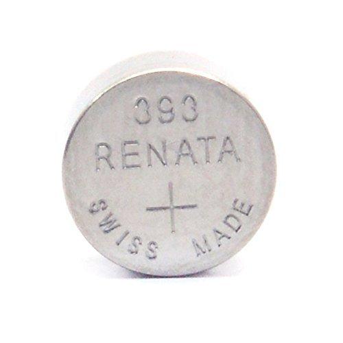 Renata Strip of 10 Genuine Fresh 393 SR754W Swiss Made Silver 1.55v Batteries