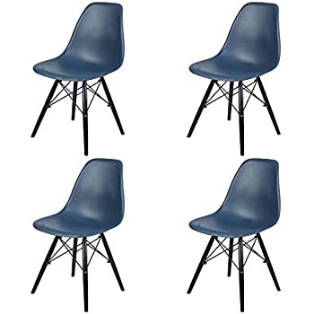 Amazon Com Gia Dsw Teal 4 Armless Plastic Chair With