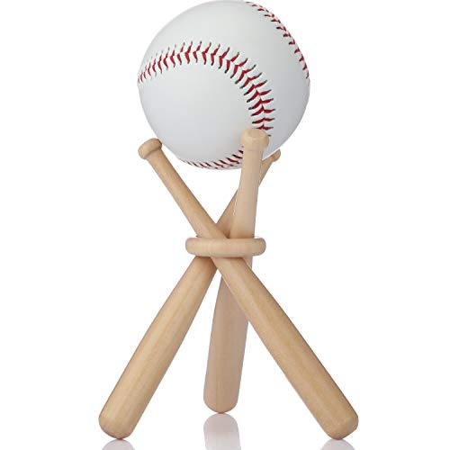 Bat Ball Holder Baseball - Baseball Stand Holder Wooden Baseball Bats Display Stand Holder Set for Ball for Kids