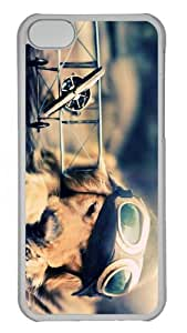 buy case Pilot Dog PC Transparent case for iphone 5C