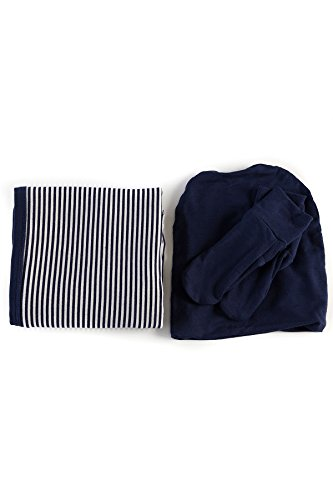 big300-navy-micro-stripe-bamboodreams-baby-gift-set-navy-micro-stripe-baby-blanket-30-x-34-in-biw290