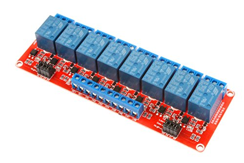 - NOYITO 8-Channel Relay Module High Low Level Trigger with Optocoupler Isolation Load DC 30V / AC 250V 10A for PLC Automation Equipment Control Industrial Control Arduino (8-Channel 5V)