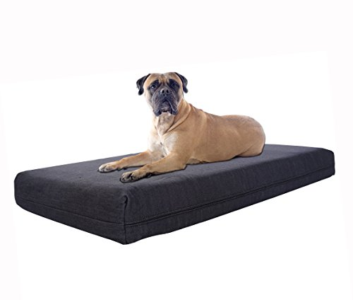 Pet Support Systems Washable Orthopedic Memory Foam Bed for Dog, X-Large, 40-Inch x 35-Inch x 4-Inch, Blue Denim by Pet Support Systems