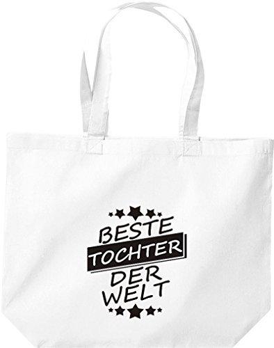 ShirtInStyle grandes Bolsa de compra Mejor TOCHTER der Welt blanco