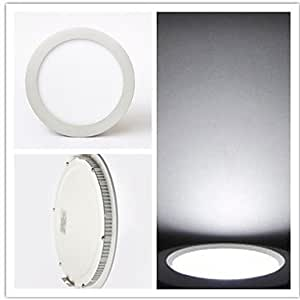 Leedfsw 9W 40x2835SMD 700LM 6000-6500K Cool White Round Panel Lights LED Ceiling Lights(AC85-265V)