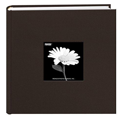 Fabric Frame Cover Photo Album 200 Pockets Hold 4x6 Photos, Chocolate ()
