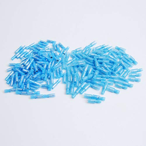 200 Nylon Bullet Terminal Connector Blue 16-14 GA AWG Gauge 0.156'' Male Female