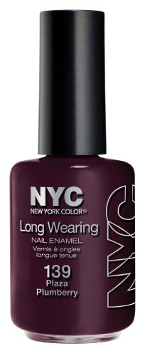 New York Color Long Wearing Nail Enamel, Plaza Plumberry, 0.45 Fluid Ounce by - Mall Plaza Stores