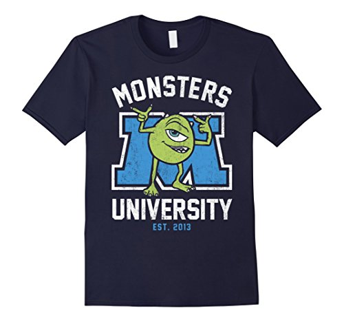 Monsters University Shirt (Mens Disney Monsters University Mike Graphic T-Shirt XL Navy)