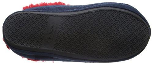 Bafiz Jungen England Home Pantoffeln Blau (Navy/Red 902)