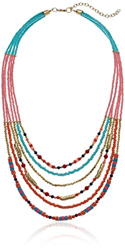 Panacea Turquoise And Multi Colored Stone Beaded Strand Necklace, 24