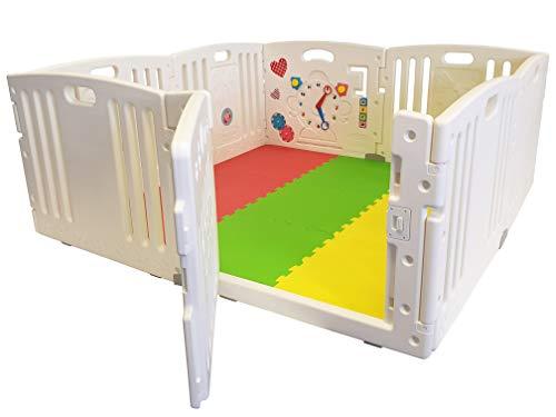 Nueva Venture All Star Playpen del bebé 8 Pc's XXL incluyendo el Panel de actividad divertida Esteras del piso cabido y…
