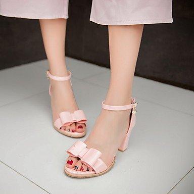 LvYuan Mujer-Tacón Robusto-Otro-Sandalias-Vestido Informal Fiesta y Noche-PU-Negro Rosa Blanco Plata Pink