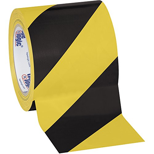 Tape Logic Striped Vinyl Tape, 7.0 Mil, 4