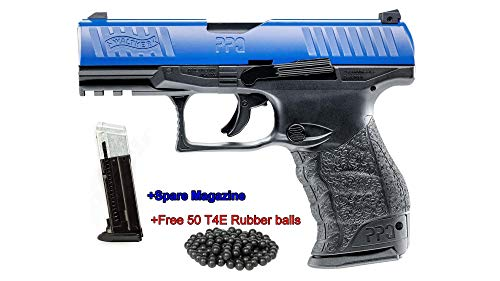 T4E Walther PPQ LE M2 (GEN2) .43cal CO2 Semi Auto Blow Back Paintball Pistol w/Extra Magazine and Free 50 Rubber Balls ()