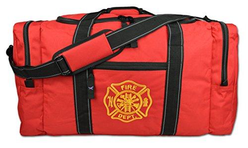 (Lightning X Value Firefighter Turnout Gear Bag w/Maltese Cross - Red)