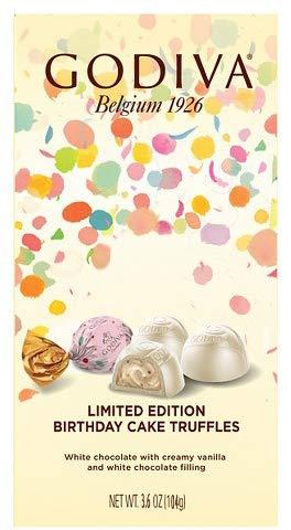 Godiva Limited Edition Birthday Cake Truffles, 3.8 oz (Pack of 2)