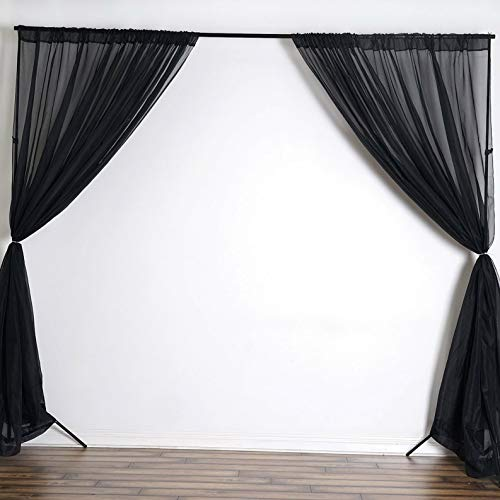 - Mikash Voile Backdrop 10x10 ft Curtain Photo Booth Wedding Home Party Decorations | Model WDDNGDCRTN - 8774 |