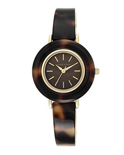 Anne Klein Women's AK/2524BMTO Tortoise Resin Bangle Watch