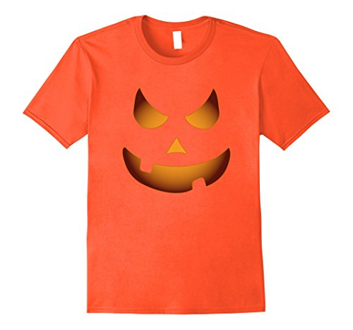 Mens Pumpkin Jack O Lantern Shirt Halloween Diy Costume Shirt Boy 2XL Orange
