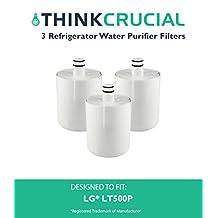 3 LG LT500P Refrigerator Water Purifier Filter Fits 5231JA2002, 5231JA2002A, 5231JA2002A-S, 5231JA2002B & 5231JA2002B-S, Compare to Part # LT500P, 5231JA2002, 5231LA2002A, 5231JA2002A-S, 5231JA2002B, 5231JA2002B-S, 9890, ADQ72910901, ADQ72910902