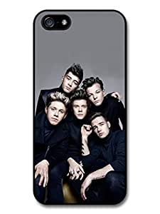 AMAF ? Accessories 1D One Direction Gang Serious Group Shot case for iPhone 5 5S