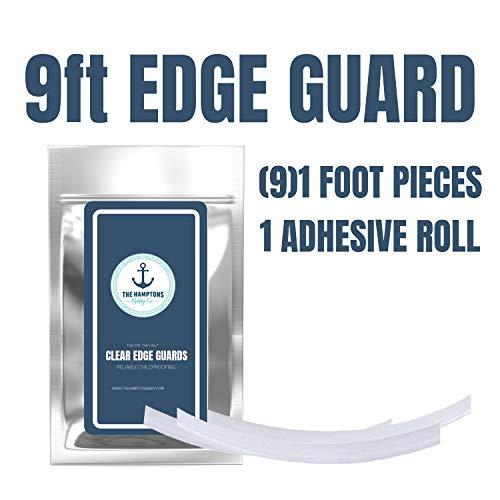 Clear Edge Protectors by The Hamptons Baby - 9-1ft Pieces with Premium Gel Adhesive - Guard Against Injuries on Sharp Edges in Your House, Use on Coffee & Dining Tables, Dressers, Desks and Much More by The Hamptons Baby (Image #1)